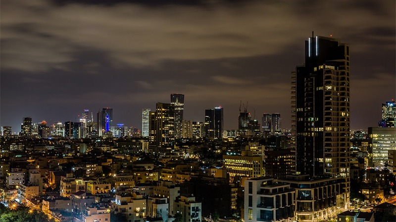 사진: 현대 이스라엘의 실질적 수도인 텔아비브의 금융, 경제 도시.