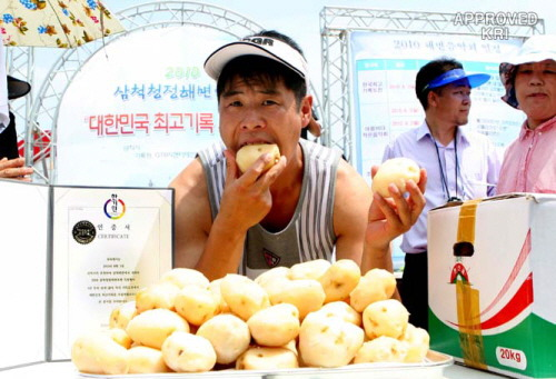19. Korean record eating lots of potatoes