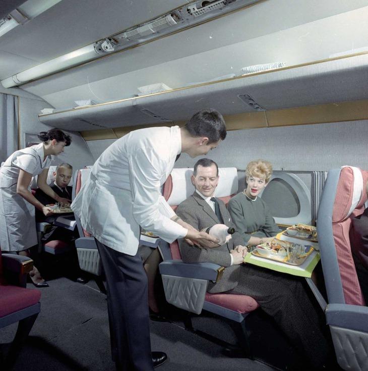 1960년대 스위스 항공의 기내식
