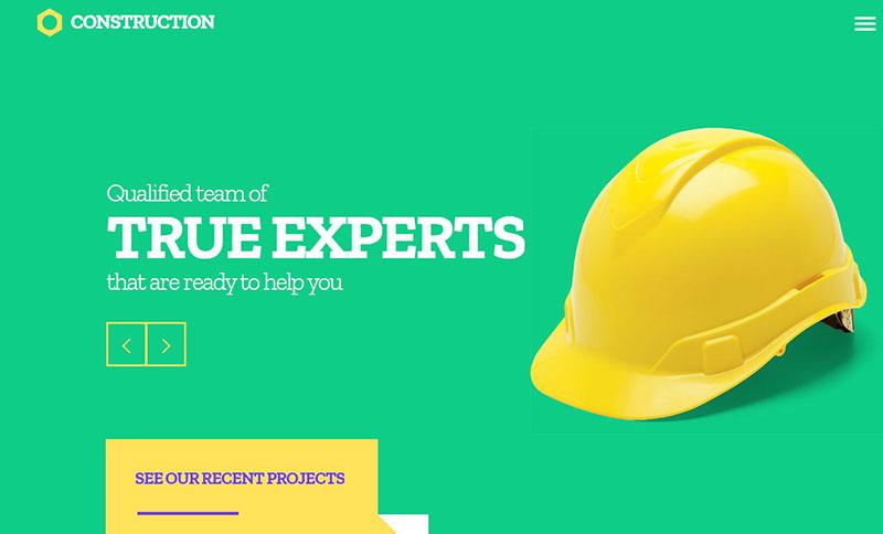 건설 회사 웹 사이트 템플릿