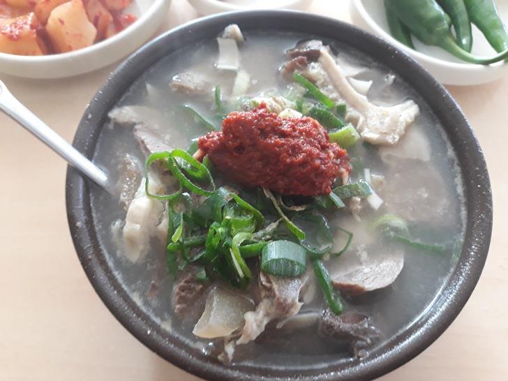 [청도맛집]풍각소머리곰탕 - 밥보다 고기가 더 많은 푸짐한 소머리 국밥 맛집