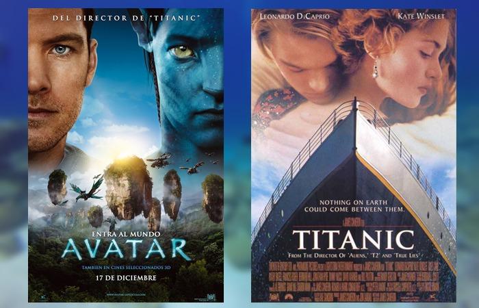 사진: 제임스 카메론 감독의 대표작 포스터. 왼쪽이 세계 흥행 1위 아바타, 오른쪽이 세계 흥행 2위 타이타닉의 포스터다. [딥씨 챌린지 프로젝트]