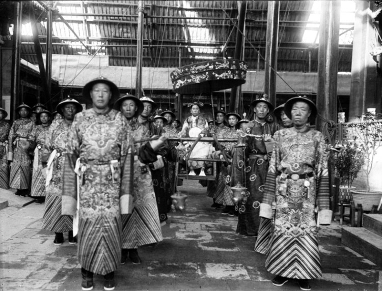 Empress Dowager Cixi in Palace Photo