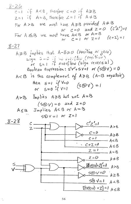 컴퓨터구조 연습문제, 모리스 마노 챕터8 56
