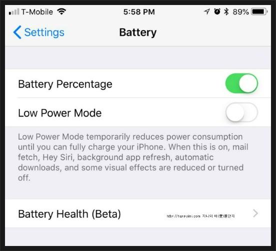 애플 스토어 아이폰 배터리 교체 29달러..과연 이 가격이 진짜일까요? 배터리 성능 확인 2