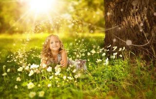 평화로운 아이 이미지