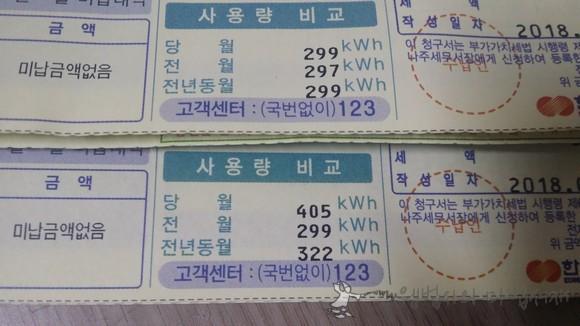 7월 8월 전기 사용량