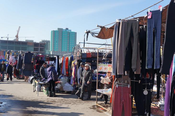 몽골 시장