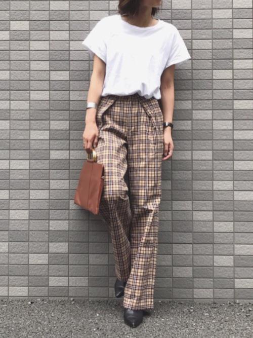 c1972fabe1a 유니크룩의 인기아이템, 여자 버버리 체크바지 코디♥(burberry pants ...