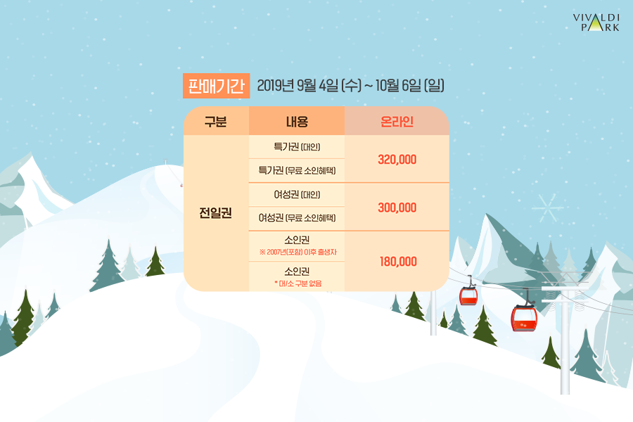 비발디파크시즌권가격