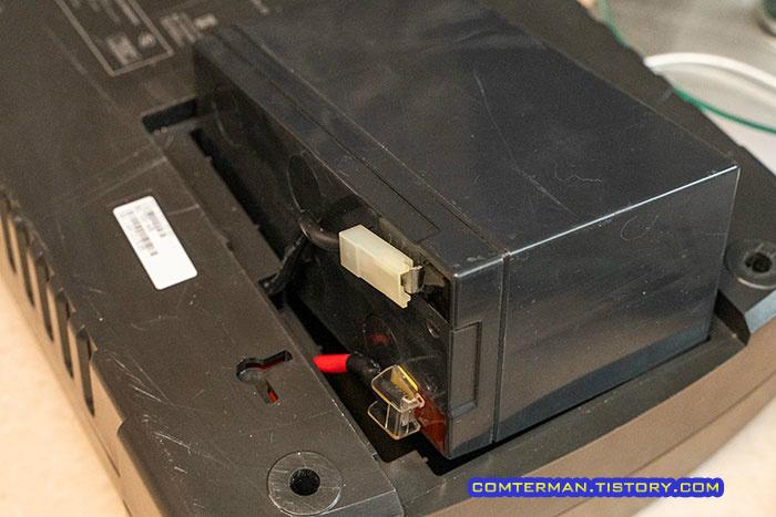 APC BE700-KR UPS 배터리 연결