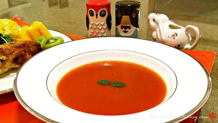 토마토 수프입니다