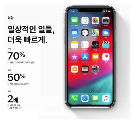 iOS12 성능 향상
