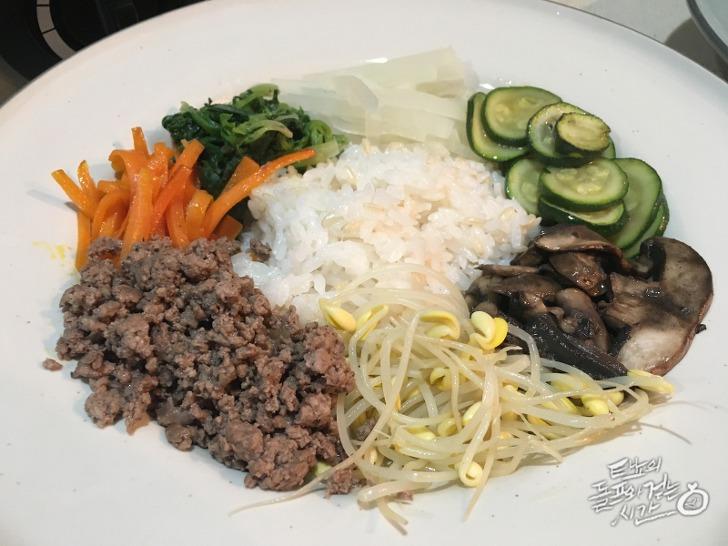 비빔밥 비빔밥재료 비빔밥만들기 콩나물무국