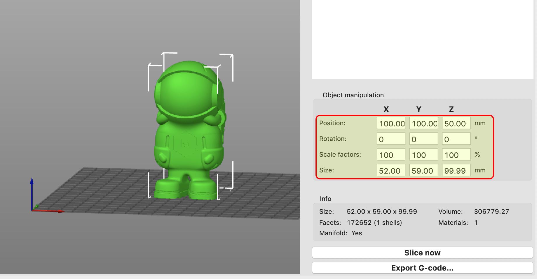 Slic3r PE 1.42.0 alpha1 object 설정 스샷