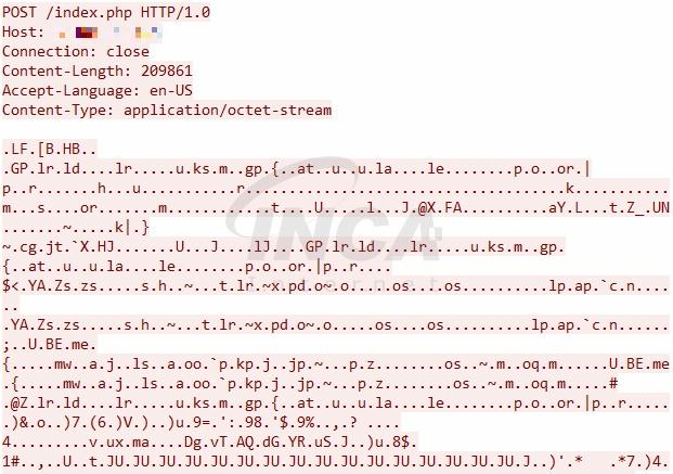 [그림 2] 수집 정보 암호화 패킷
