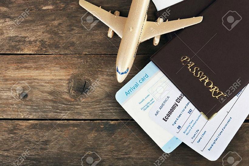 여행 휴가 여권 비행 비행기 항공권