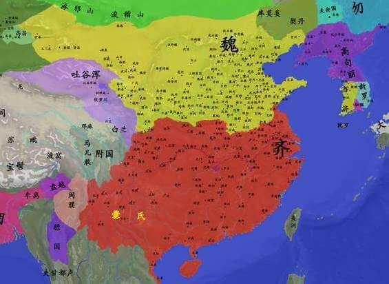 위진남북조 시대 중기 국경선