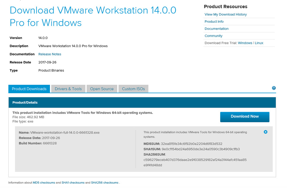 vmware workstation 13 pro release notes