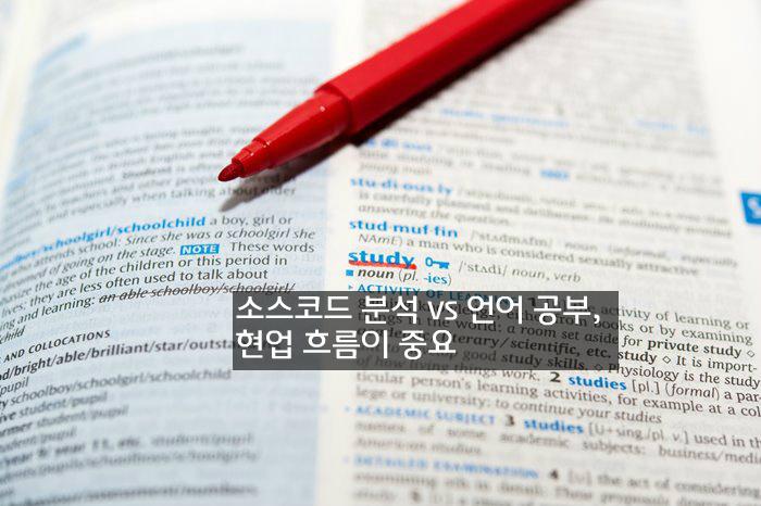 소스코드 분석 vs 언어 공부, 현업 흐름이 중요