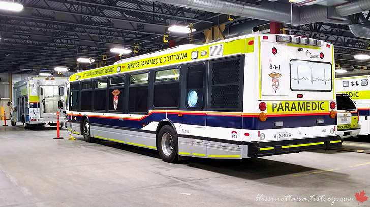 응급의료 버스입니다