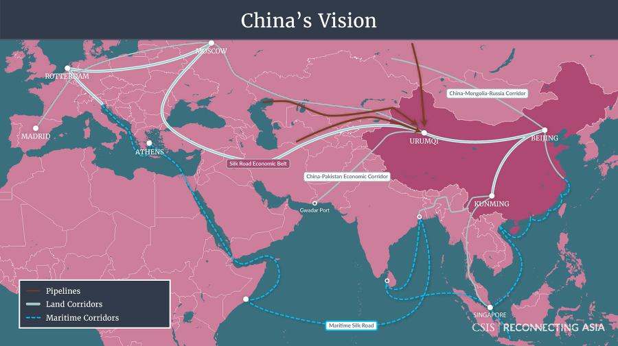 중국의 일대일로(One Belt, One Road)는 얼마나 큰가?