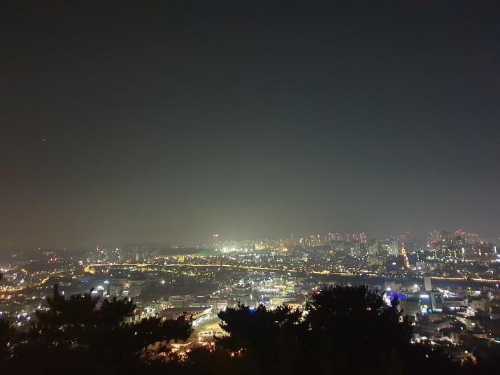수원 화성 서장대 야경-수원 도시 조망 3