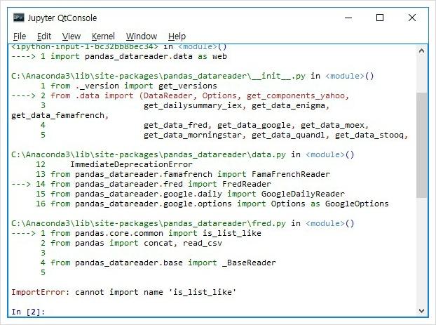 배당소득 만들기 :: 파이썬 pandas_datareader data as web cannot
