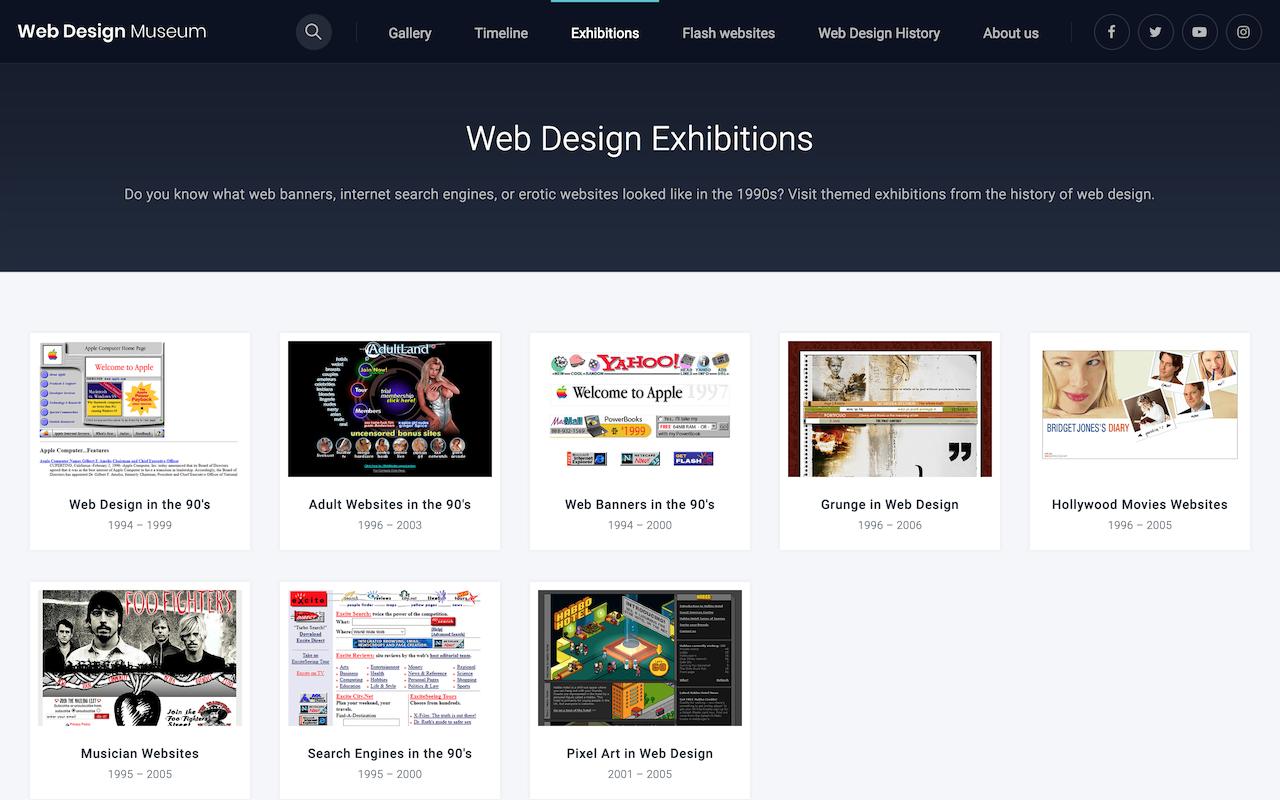 웹 디자인 전시(Web Design Exhibitions)