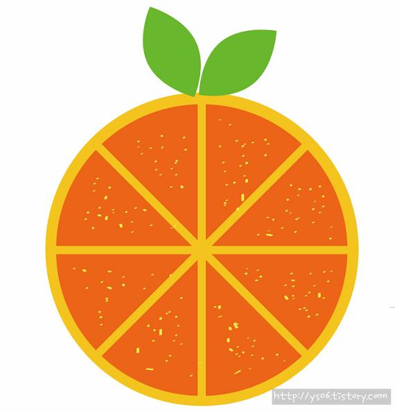일러스트 오렌지 그리기