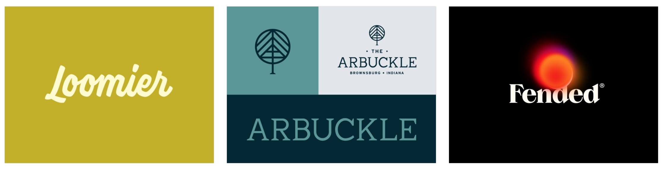 Loomier 로고 타입,  Arbuckle Branding,  Fended'20 로고 디자인