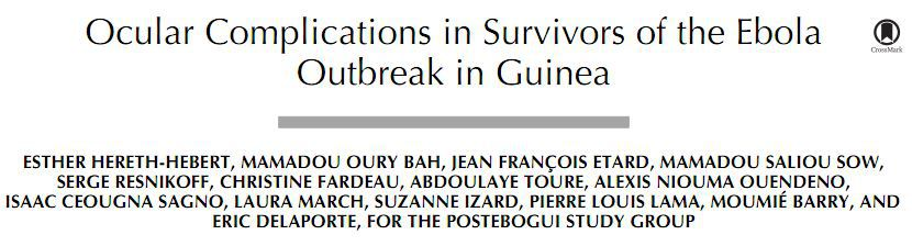 Ocular Complications in Survivors of the Ebola Outbreak in Guinea