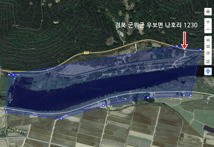 위천강 붕어낚시 포인트 - 군위 우보 나호리