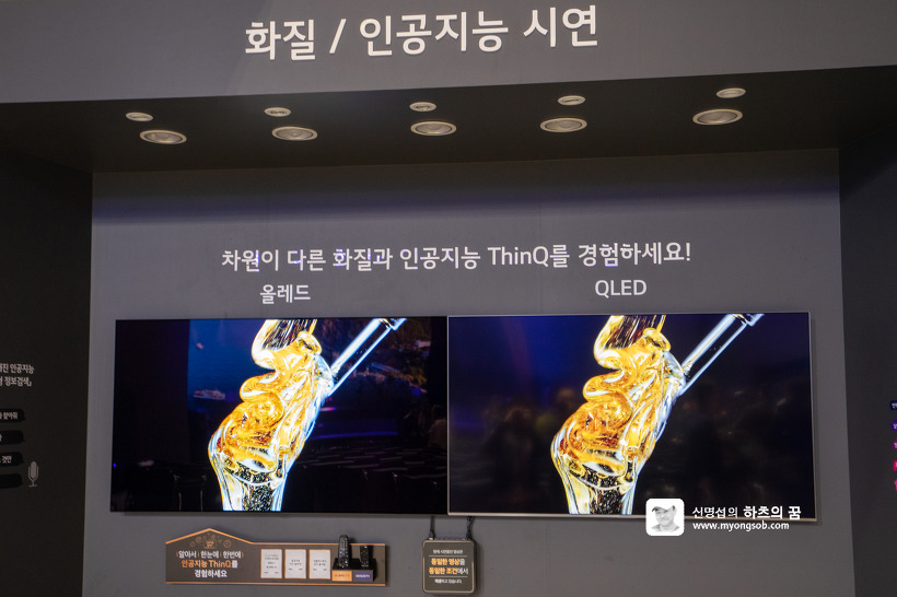 LG 올레드 TV Ai ThinQ vs 삼성 QLED TV