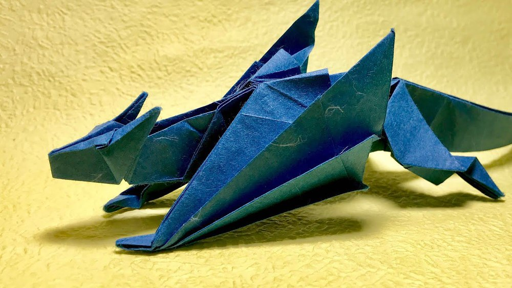How make origami 3-Heads Dragon | How To Make Origami Dragon | 562x1000