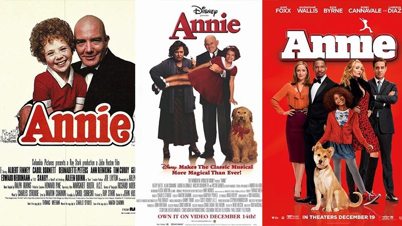 사진: 뮤지컬과 영화, TV드라마 등으로 여러 편 제작된 애니의 포스터