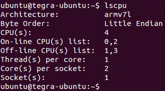 리눅스 명령어 - lscpu