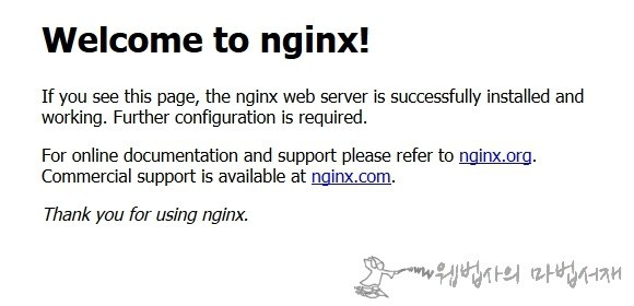welcome to nginx 납치 페이지