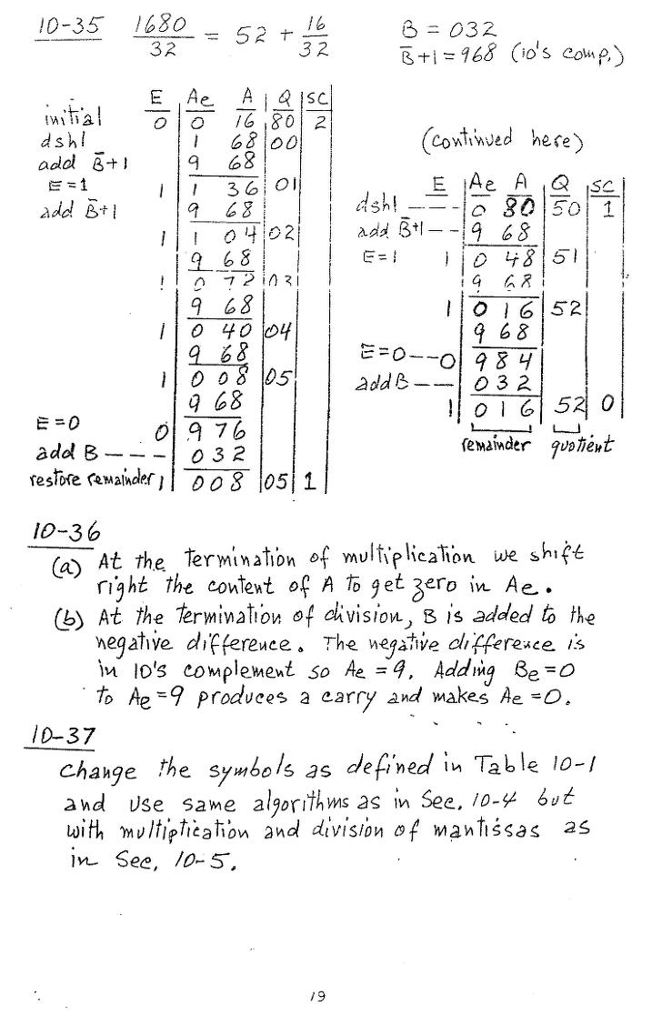 컴퓨터구조 연습문제, 모리스 마노 챕터10 79