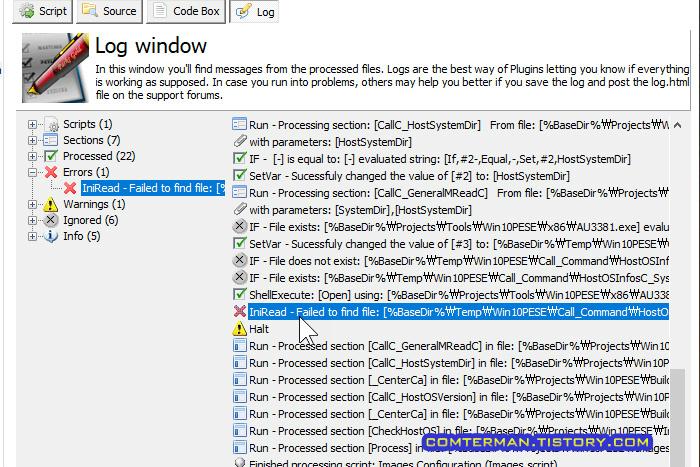 iniRead - Failed to find file: [%BaseDir%\Temp\Win10PESE\Call_Command\HostOSInfosC_SystemDir_0001.ini]