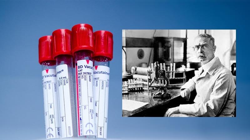사진: 혈액형의 아버지로 불리는 란트슈타이너의 모습.