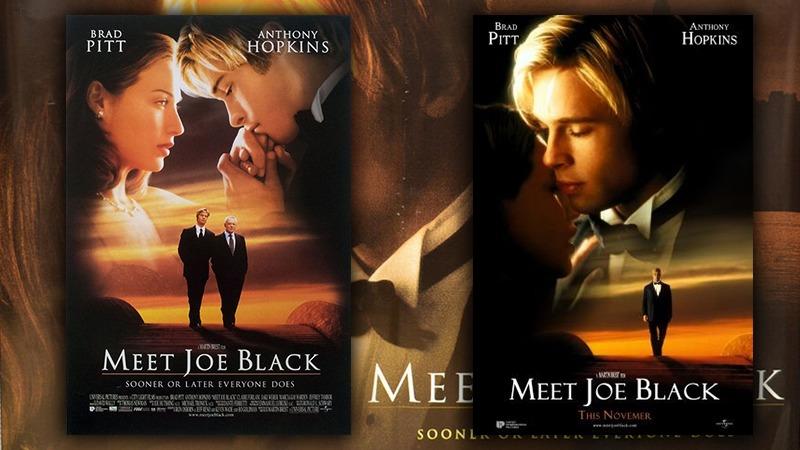 사진: Meet Joe Black 포스터. 브래트 피트, 클레어 폴라니 주연