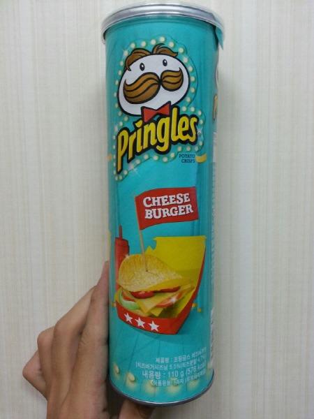 프링글스 치즈버거맛