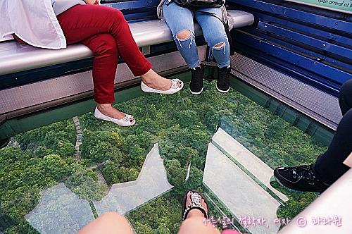 옹핑케이블카 투명 바닥