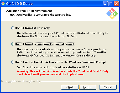 use git from the windows command prompt