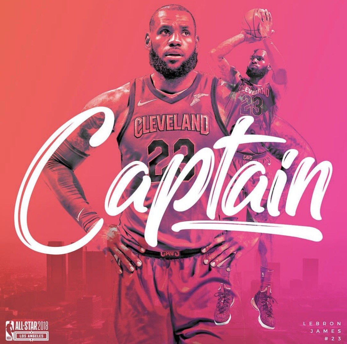 2018 NBA all-star Eastern starters captain LeBron James, Cleveland Cavaliers