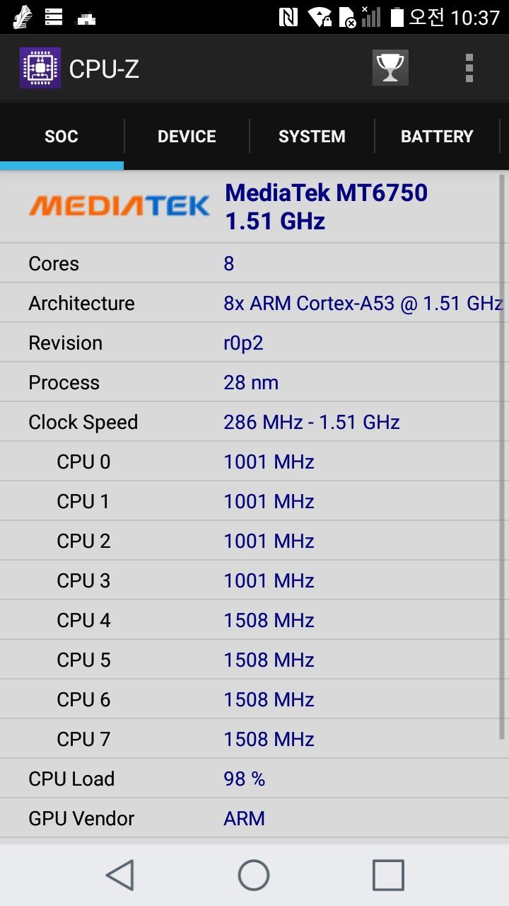 LG X401 CPU-Z Geekbench