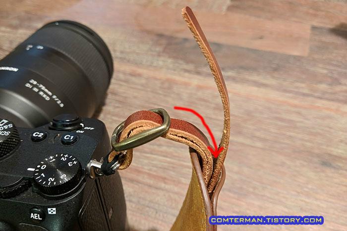 카메라 스트랩 길이 조절 방법