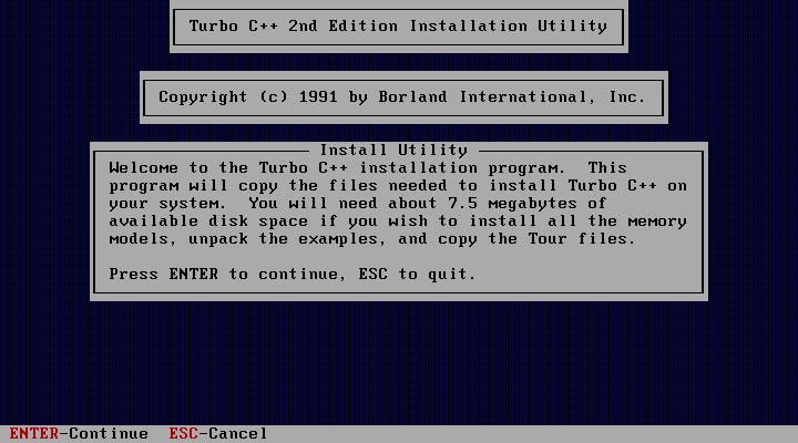 Turbo C++ v1 01 :: 프로그래밍의 발견