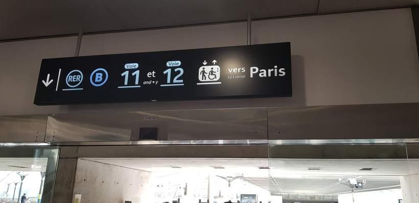 파리 공항에서 시내까지 RER B 라인